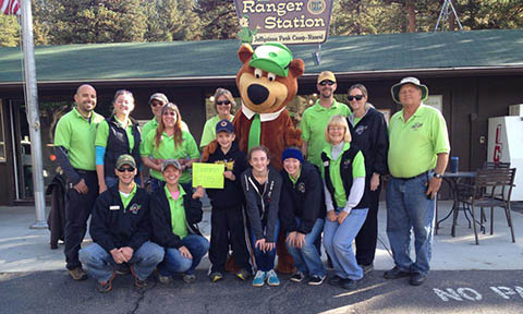 Yogi Bears Jellystone Park of Estes Park owns a Phelps Honey Wagon for their Colorado campground guests